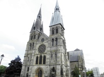 CHALONS: kolegiata - fasada zach. / west facade of the collegiate church
