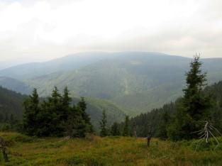 Zejście zboczami Bridlicznej hory