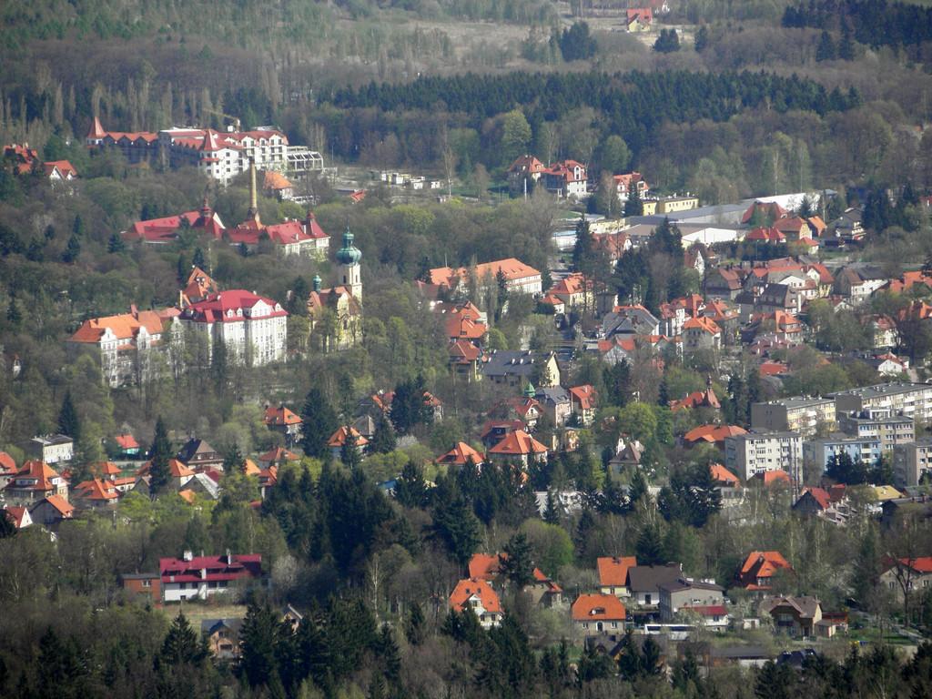 Polanica-Zdrój z Kamiennej Góry
